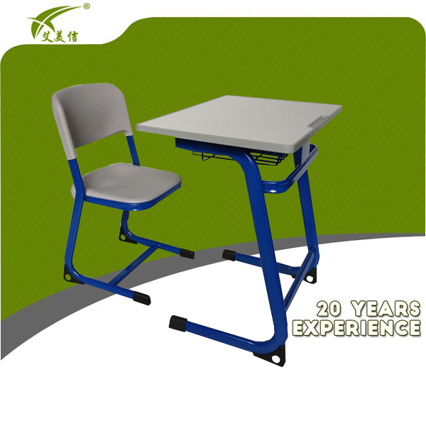 Classroom metal writing desk/steel furniture school/university desk chair