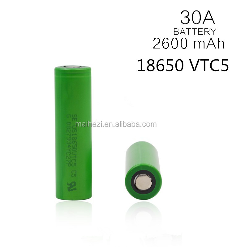 original wholesale18650 li-ion batterie us18650v 3.7V 2600mah rechargeable battery us18650vtc5