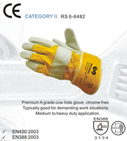 RS SAFETY Industrial leather hand gloves and Canadian rigger Cow leather gloves