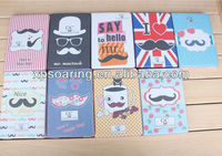 mustache leather case pouch bag for mini ipad