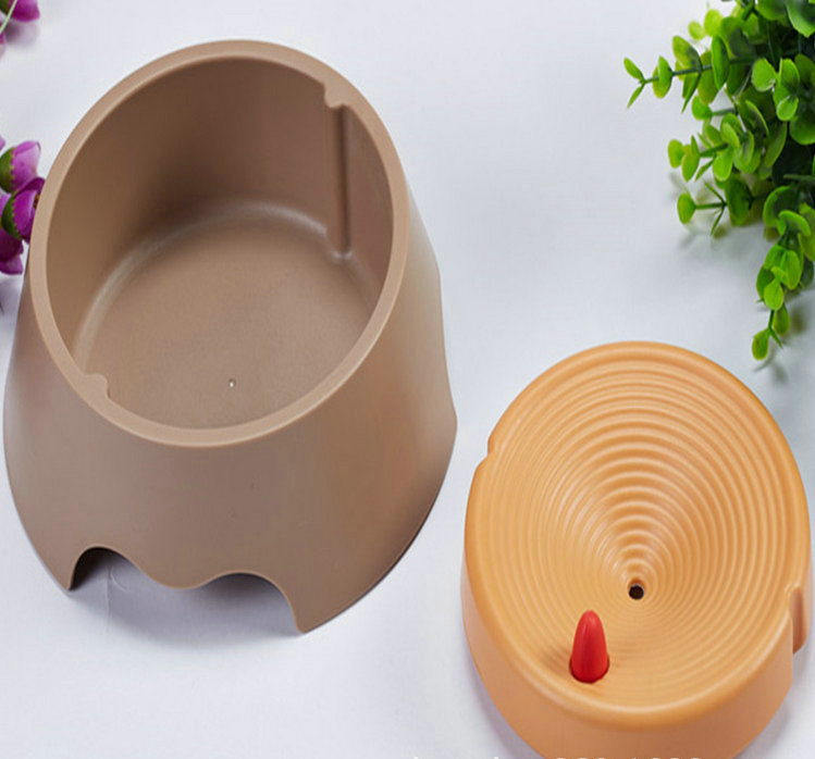 Anti gulf pet water bowl for dog slow drinking