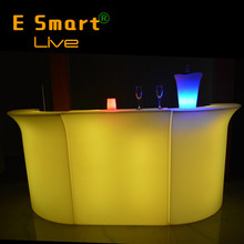 commercial restaurant reception LED bar counter for sale