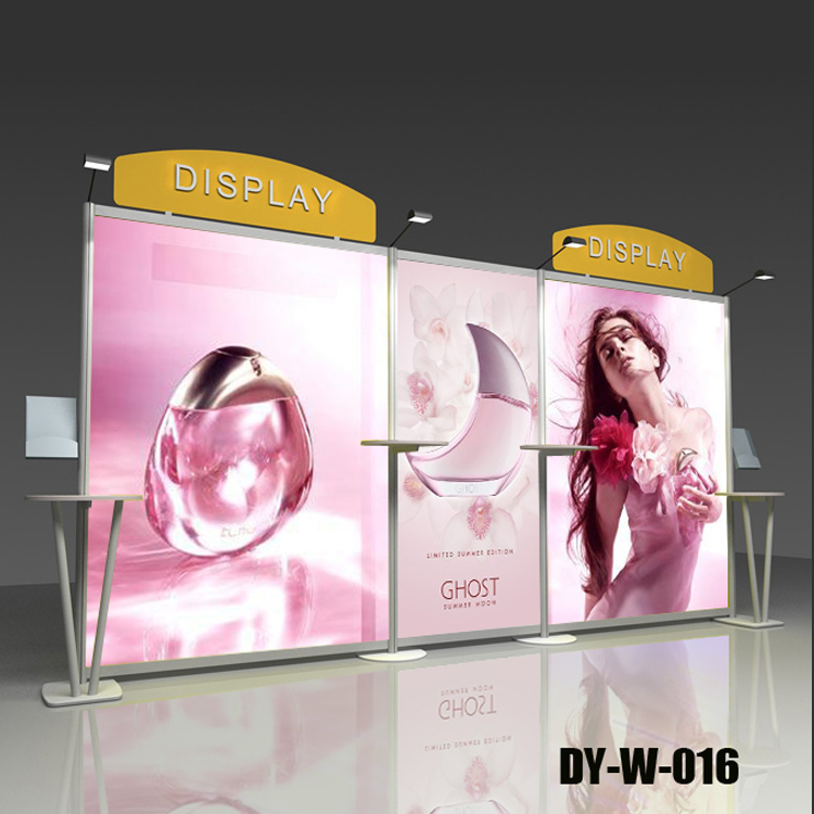Modern new design cosmetic exhibition stands tradeshow shelf exhibits