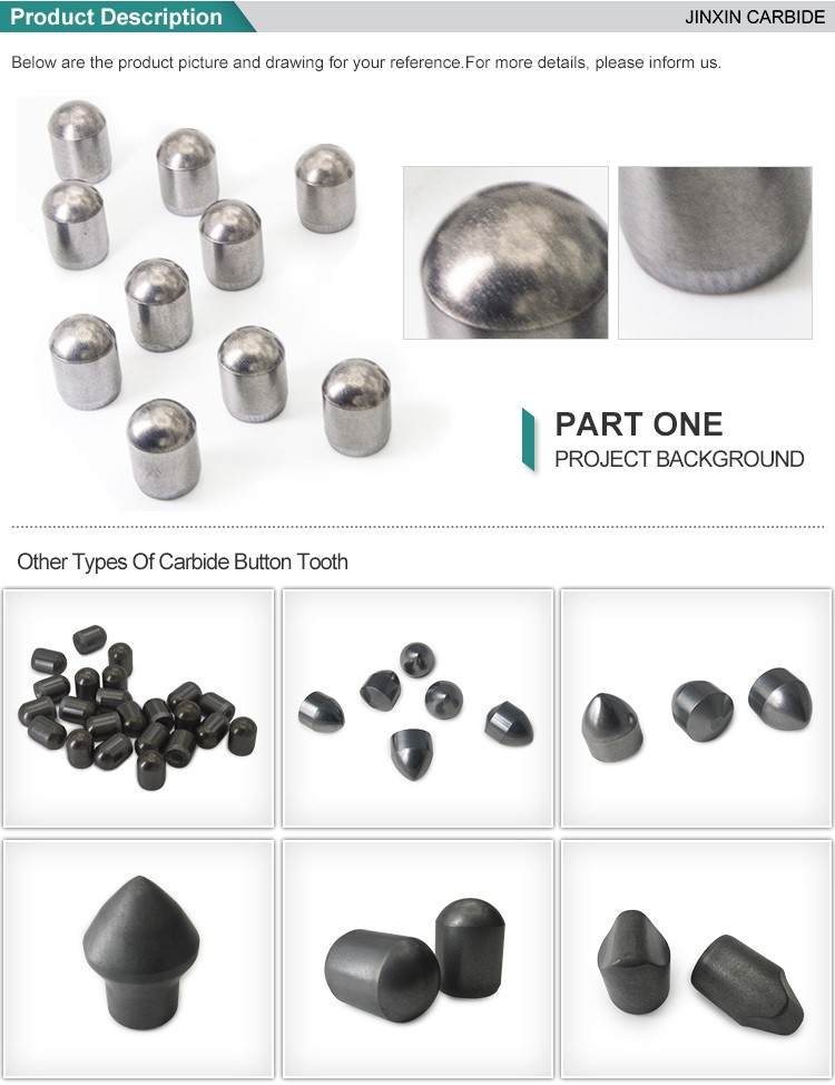 YK05 cemented carbide drill rods drill bits button bit for dth bits