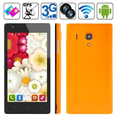 Original HTM M1 4GB Orange, GPS + AGPS, Android 4.1.2, MTK6572 1.0GHz Dual Core, RAM: 512MB, 4.7 inch Capacitive Screen Smart Ph