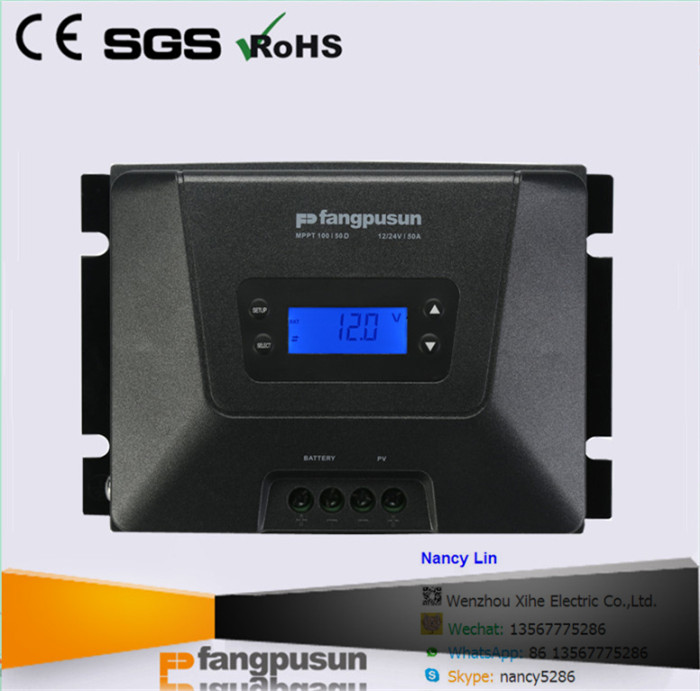 * Ce RoHS Fangpusun Solar Panel Power System 12V 24V Rated Voltage MPPT100/50D Solar <strong>Charge</strong> <strong>Controller</strong> 50A