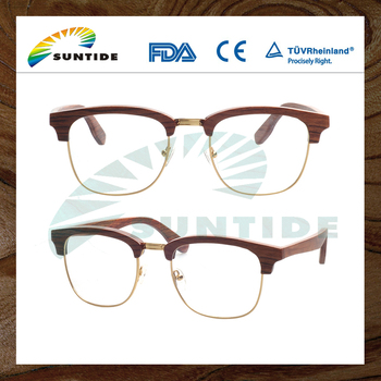 china wholesale wood optical eyeglasses frame