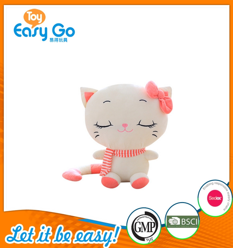 Special lovely and cute cat toy/ Stuffed big face cat Toys Home Deco Doll