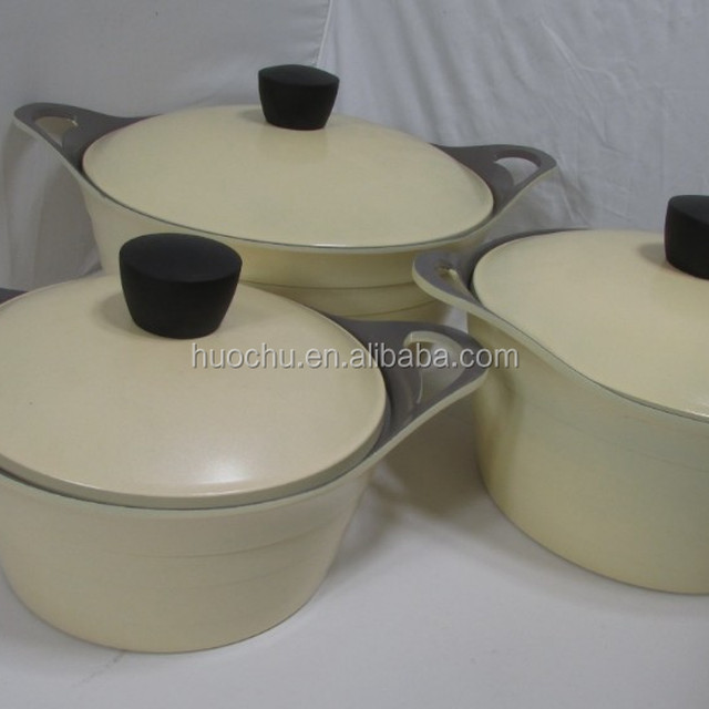 KITCHENART Korea model ceramic casserole cookware set with silicone handle