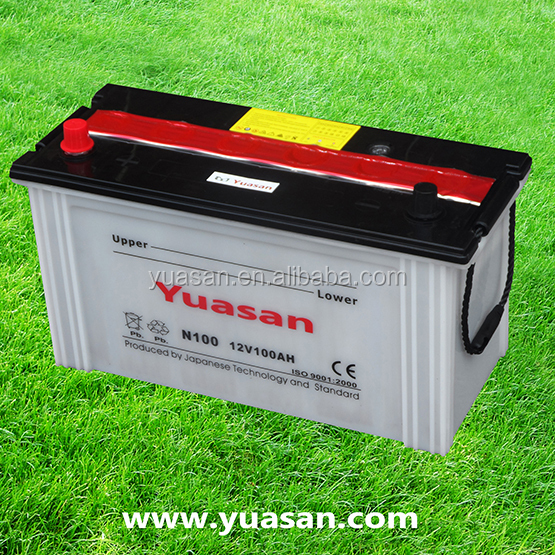 Nice Rechargeable N100 Auto Car Batteries 12V 100AH Lead Acid Dry Battery for Trucks -N100