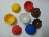 silicone ice Cube tray Eco-friendly wave round shaped silicone small ice ball maker tray