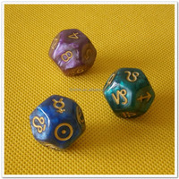 resin marble color dice
