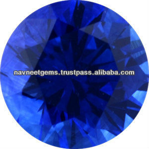 5mm Round Blue Sapphire Faceted Gemstones - Wholesale Supplier