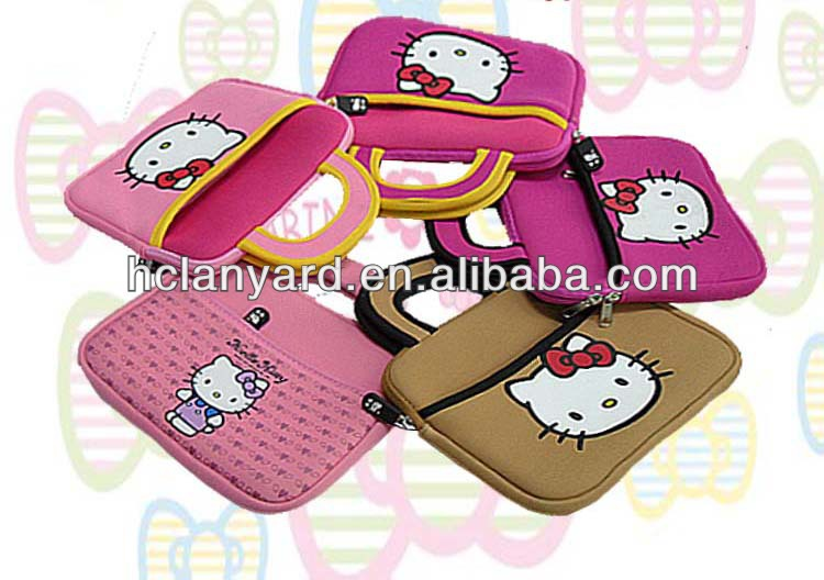 2017 costomized hello-kitty neoprene tablet laptop sleeve for ipad/phone