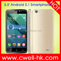 MTK6580 Android 5.1 Cell Phone X-BO 02 5.5 inch Touch Screen GSM CDMA Mobile Phone