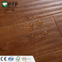 Ac3 hdf Handscraped E1 melamine formaldehyde resin free surface source finish laminated flooring