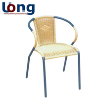 patio garden steel leg PE outdoor rattan chair