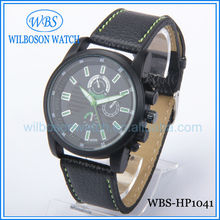 2012 hot selling leather watch with simple leather watch belt