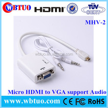 Manufacturer Micro HDMI To Vga audio Adapter