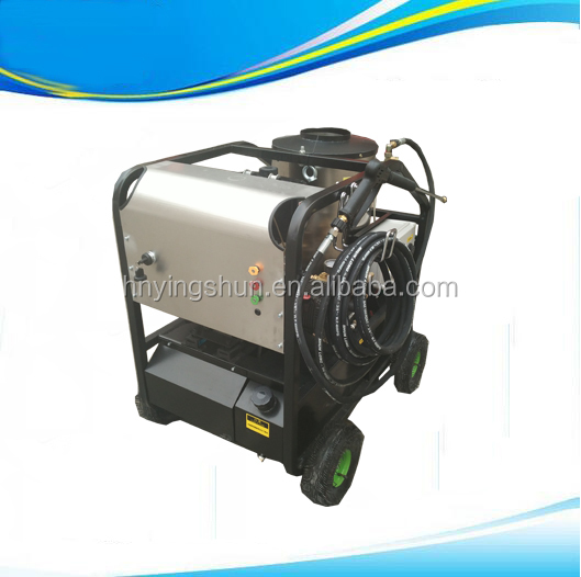 Export to Malaysia 200bar hot water, 50bar steam jet water jet cleaner