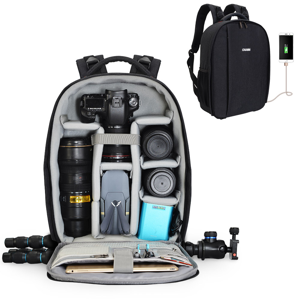 CaDen <strong>D10</strong> Waterproof Polyester Shockproof DSLR Photo <strong>Camera</strong> Soft Bag, Stylish DSLR SLR bag <strong>camera</strong> backpack