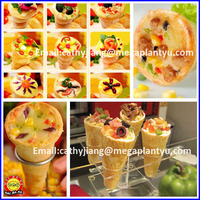 Small Pizza cone production line with dough mixer cutter and Oven