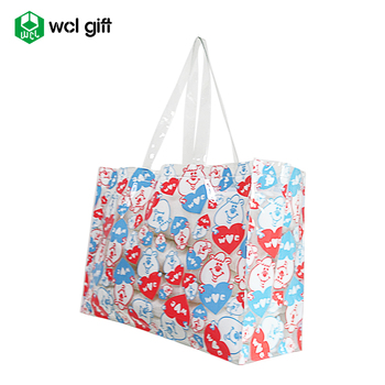 Promotional Cheap Customized printing Summer Plastic PVC Blank Beach Tote Bag