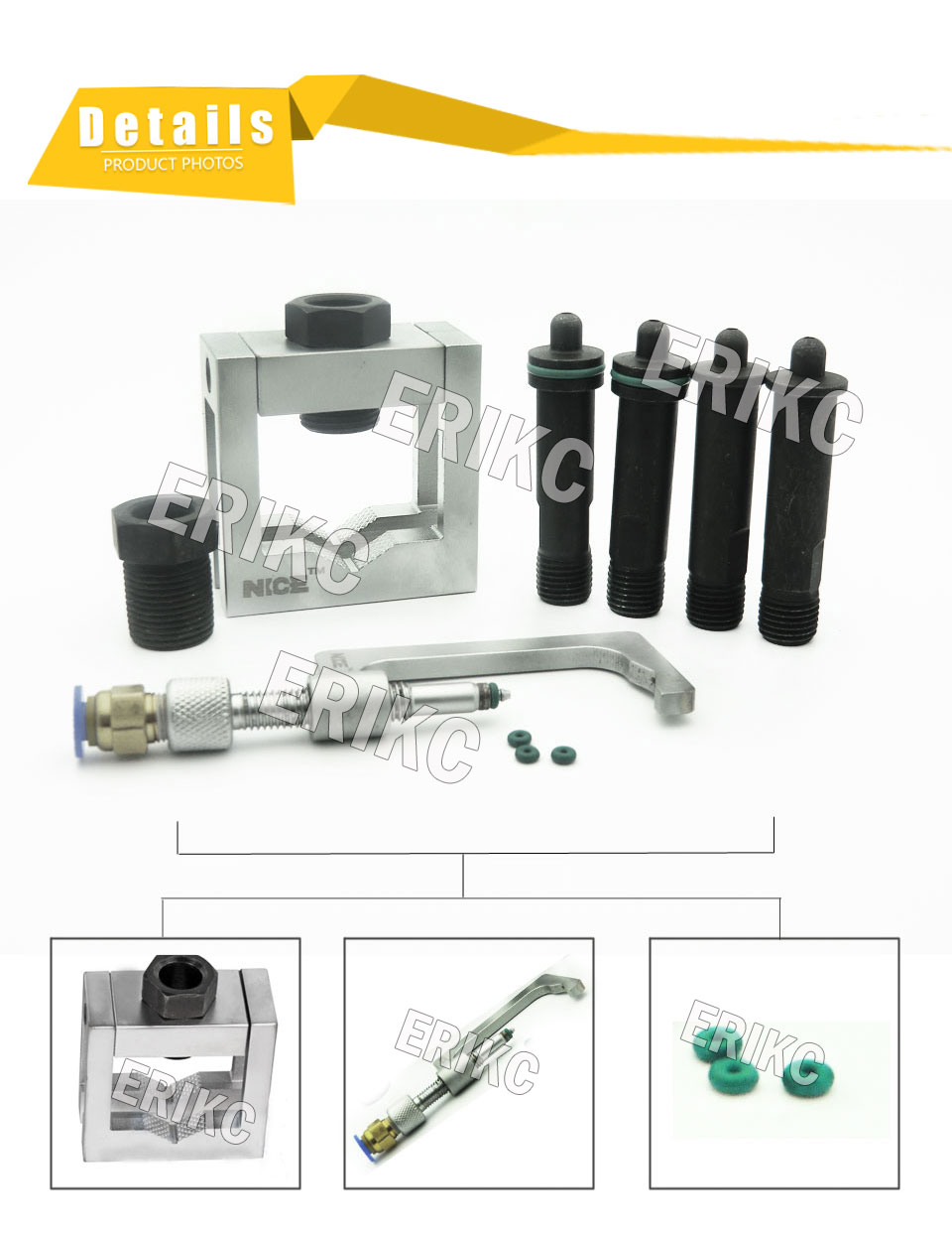 E1024004 auto fuel dispenser Universal Grippers, denso fuel injector Oil-Return Devices,diesel fuel injector Grippers