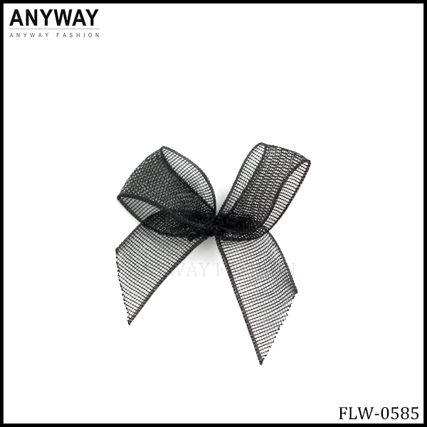 Black mini Ribbon Flowers Bowknot Embellishment Scrapbooking Craft DIY