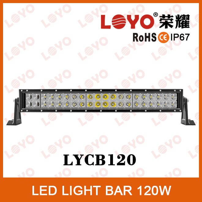 Funny car accessories lights bar 40*3W chips IP67 waterproof 10-30V cheap led light bars