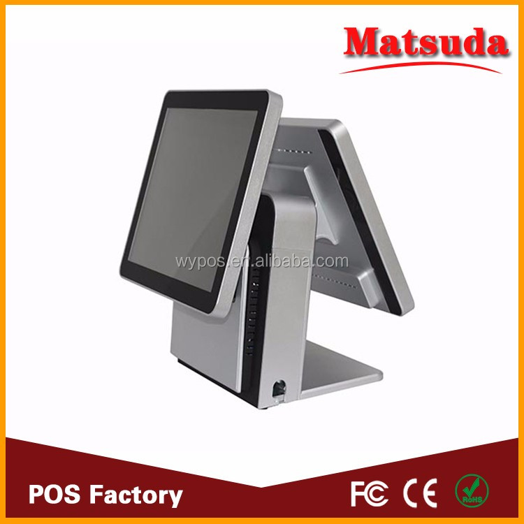 Factory Supply 15 inch waterproof fanless electronic cash register touch screen pos systems
