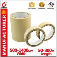 Baoguan Red/Brown/White film Automotive Hotmelt/Rubber Crepe paper Masking Tape