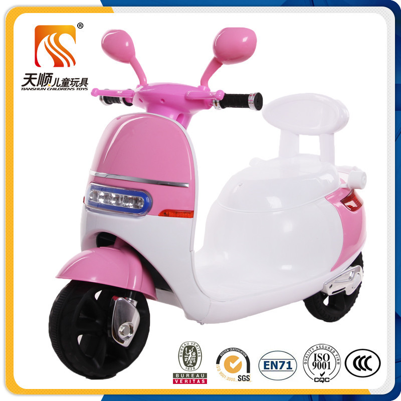Simple and lovely design new PP plastic kids electric motorcycle made in China