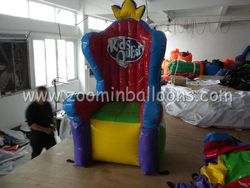 Newly designed inflatable throne chair balloon for promotion N2116