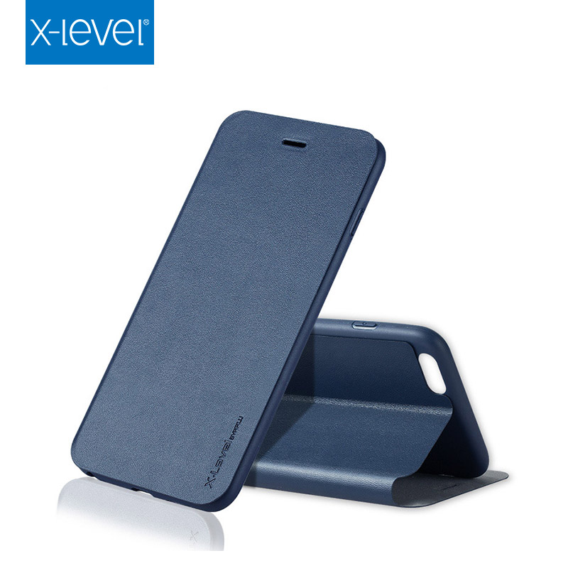 X- Level Hot Selling Custom Flip Case For Mobile Phone Case , PU Leather Phone Case For Iphone 6S