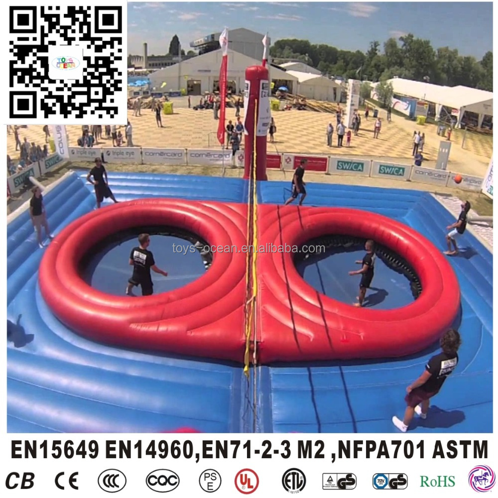 Popular inflatable beach volleyball court, volleyball sport arena for adults