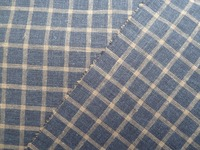 9S*9S linen rayon plaid fabric