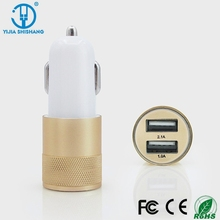 good quality metal bullet shape portable car battery charger for toy car,dual usb car charger
