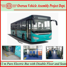 12 m Pure Electric Bus with Disable Floor and Seats