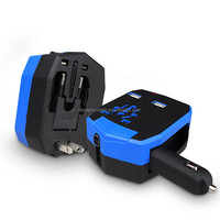 all-purpose plug in one armor travel adaptor with car charger