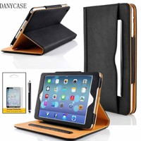High Qulity Hot Selling Flip Leather sleep/wake Tablet Case for iPad, Leather Case for iPad 123456 Mini, Tablet Cover