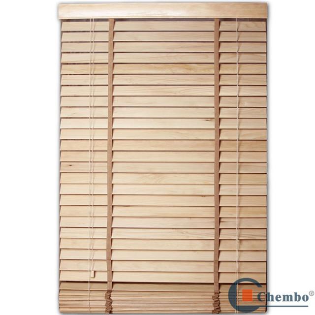 cheap bamboo Wood slats single open blinds
