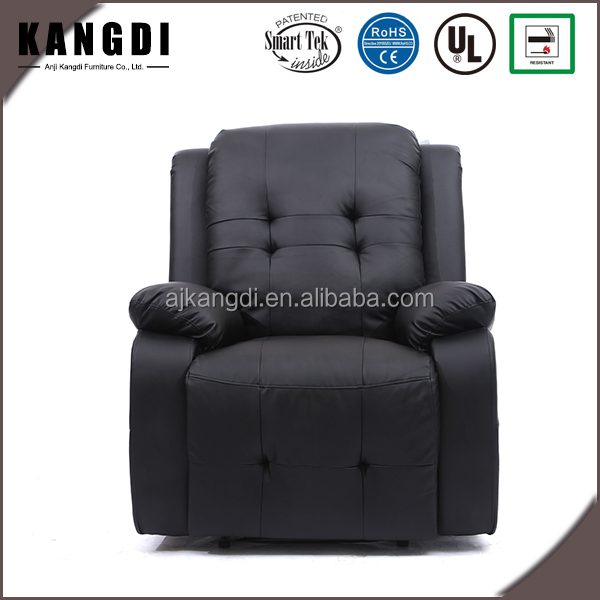 Italy black leather electric massage relaxing chair recliner sofa