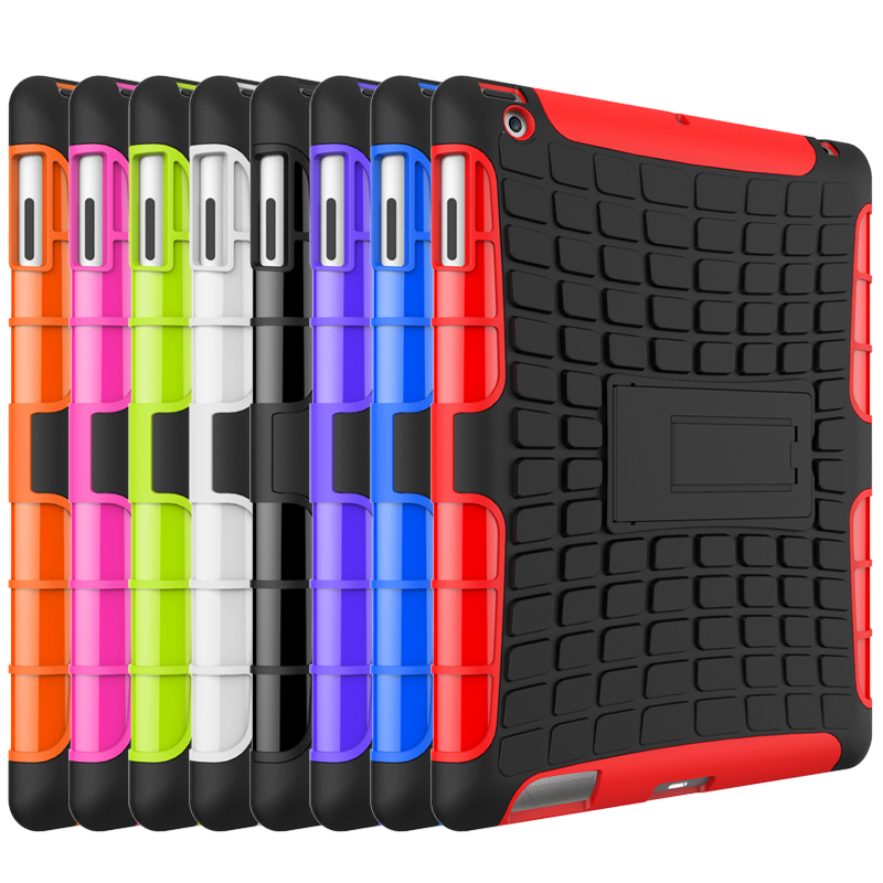 High Quality Hybrid Kickstand Rugged PC TPU Hard Shockproof Case For ipad 2 3 4