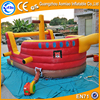 Newest design backyard bounce house, red&yellow children inflatable castle with cheap price