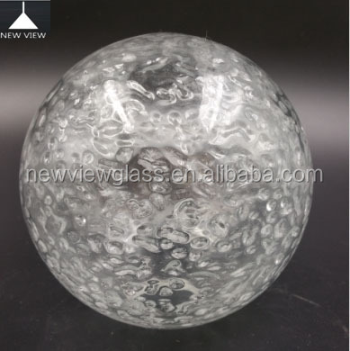 Hand blown glass ball hanging lamp/Clear Acid effect vetro soffiato a mano palle/glass globe light covers