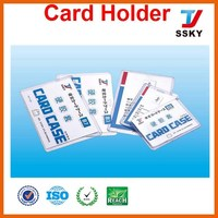 A4 PVC plastic business card case manufacturer