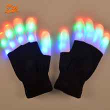halloween flashing gloves led
