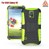 BX For Samsung Galaxy S5mobile accessories TPU +PC Armor Defender Rubber shockproof Mobile Phone Back Case Cover 2 in 1