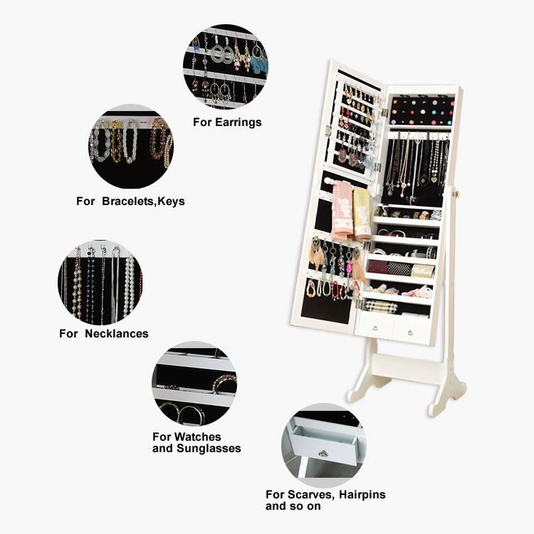 dressing room jewelry armoire mirrors